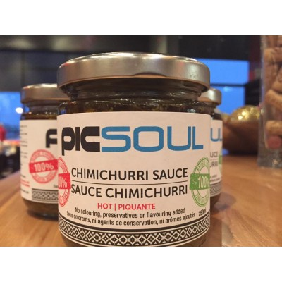 Argentinian Mild Chimichurri sauce with YOUR LOGO 250ml