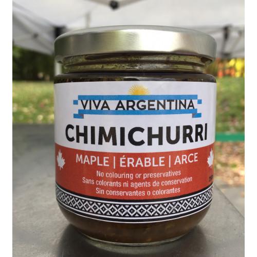 Sauce Chimichurri argentine  avec sirop d'érable, Douce